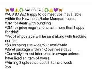 Sales FAQ xxx