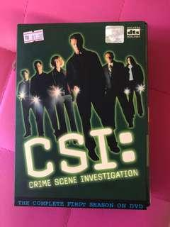 CSI: Crime Scene Investigation. The Complete First Season on DVD.