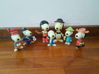 2002/2003 Snoopy McDonald's figurines