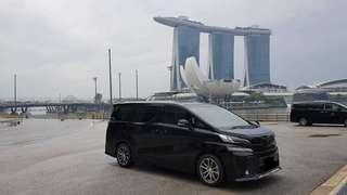 Toyota Vellfire w/ Driver to Malaysia