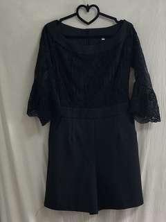 Korea Black Lace Jumpsuit