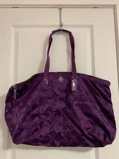 Coach purple tote