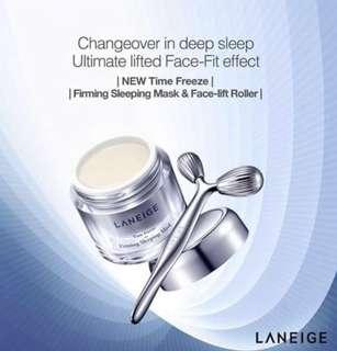 Combo Deal!! - Laneige Time Freeze Face-Fit Roller and Firming Sleeping Mask