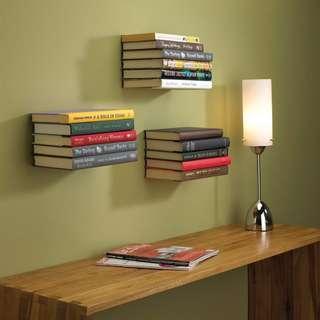 Umbra invisible bookshelf (new, one pair)