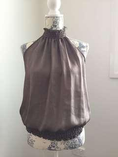 Women's ruched high neck top