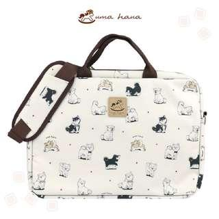 ~BN~ Uma Hana Sling Waterproof Laptop Bag (Hajiko design)