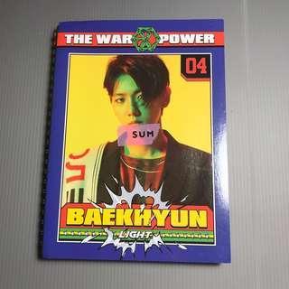 EXO POWER NOTEBOOK (BAEKHYUN) - PRE LOVED OFFICIAL MERCHANDISE