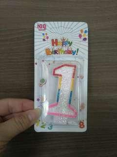 Birthday cake #1 candle only sale