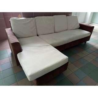 L-Shape Sofa ($280 + free delivery and installation)