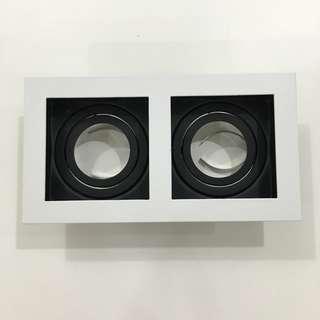 Brand new in box designer downlight double head casing