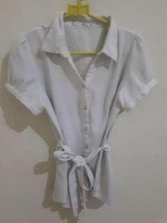 (USED) ACCENT - White Blouse 04