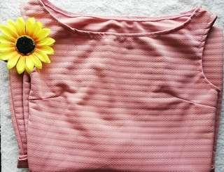 Pastel Pink Fitted Dress
