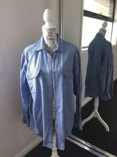 Men's retro just jeans original cotton check shirt 90s