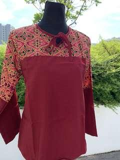 Top with songket print