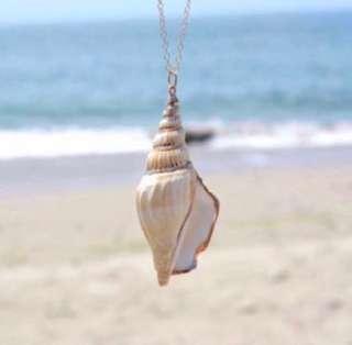 🌿 Seashell Design Pendant with Adjustable Chain