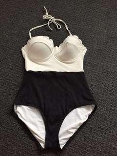 Women's one piece retro pinup swim wear swimsuit