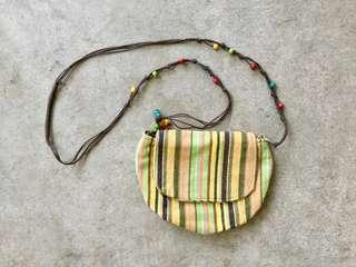 Colorful Woven Sling Bag