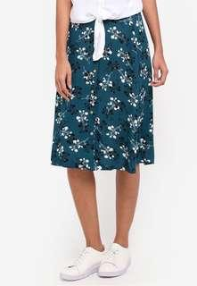 Size Small Green Floral Skirt New With Tag