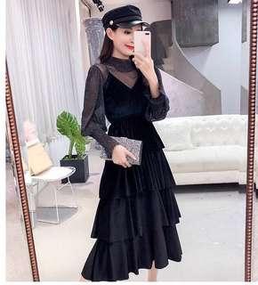 Black cotton summer maxi dress