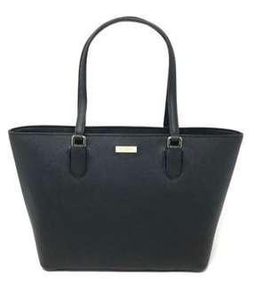 Kate Spade Laurel Way Medium Dally Black Leather Tote Bag WKRU5301  (Original from US)