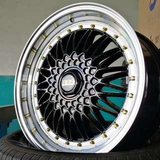 "BBS RS 18"" Gloss Black w/ Full Polish Lip 5X114.3 (rep)"