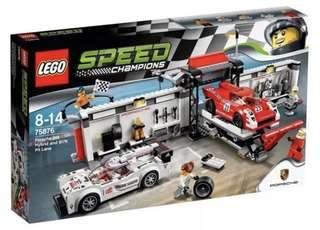 LEGO 75876 Speed Champions Porsche 919 Hybrid and 917K Pit Lane (MISB)