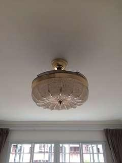 Victorian Style Retractable Ceiling Fan with LED Light