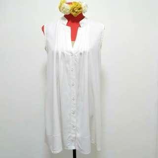 Sleeveless dress/ long top (L)