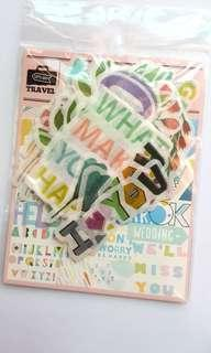 Washi sticker flakes for planner journal