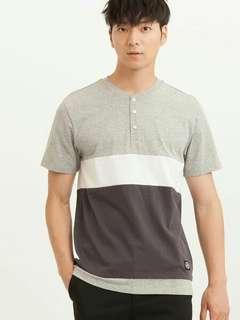 H:Connect Henly Neck Simple Cotton Shirt