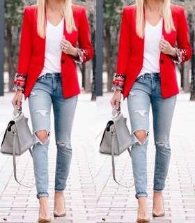 Authentic Zara Red Blazer