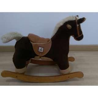 Mamas & Papas Vintage Traditional Style Wooden Rocking Horse