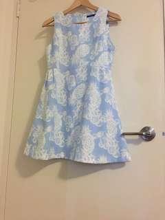 Sky blue summer dress