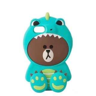 🚚 INSTOCK Brown Bear Phone Case Line Friends BN Dinosaur
