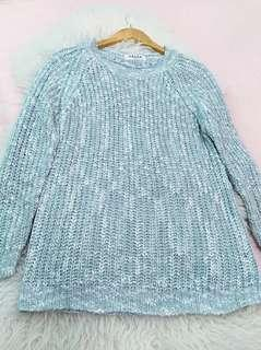 Pastel Green Multicolor Knit Sweater