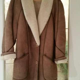 Vintage Women's Sheepskin Coat Size 8