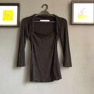 Zara longsleeve Black Top