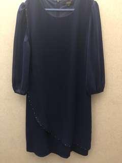 Blue formal dress for work