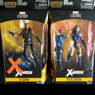 Marvel Legends Psylocke and Storm
