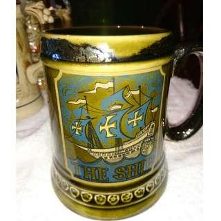 """Lord Nelson Pottery Antique Beer Mug """"The Ship"""""""