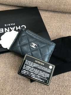 💯Authentic Chanel Carviar Classic Card Holder #MY1212
