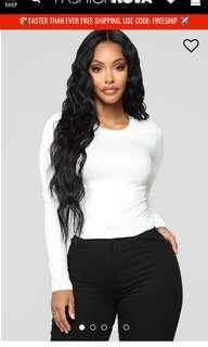 Fashion nova white top