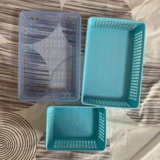 Blue Plastic Baskets