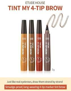Authentic ETUDE brow 4-Tip Tint