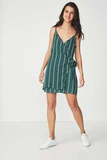🚚 Cotton On Woven Margot Wrap Slip Spaghetti Strap Dress