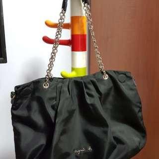 🚚 Agnes B Black Chain Bag