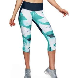 under armour fly fast printed capri / leggings / tights
