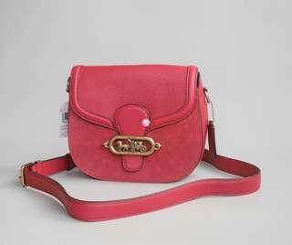 Coach Elle Saddle Bag Red
