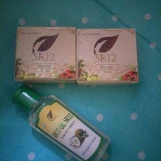 VCO Oil SR12 dan 2 Sabun Rice Soap