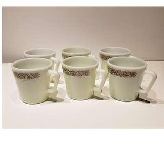 Vintage Pyrex Cups set of 6